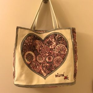 Brighton Love in Bloom Large Canvas Tote